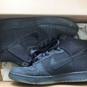 Nike Black Dunks with Polka Dots
